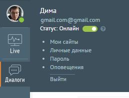 Статус онлайн в чате