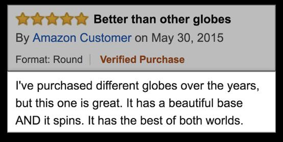 Отзывы более убедительны, когда они описывают опыт использования похожих продуктов