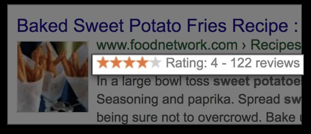 Используйте разметку, чтобы показывать рейтинг в поисковиках
