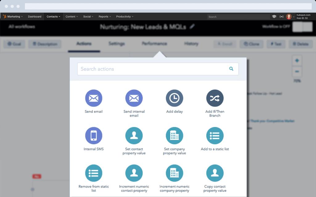 сервисы автоматизации маркетинга - HubSpot