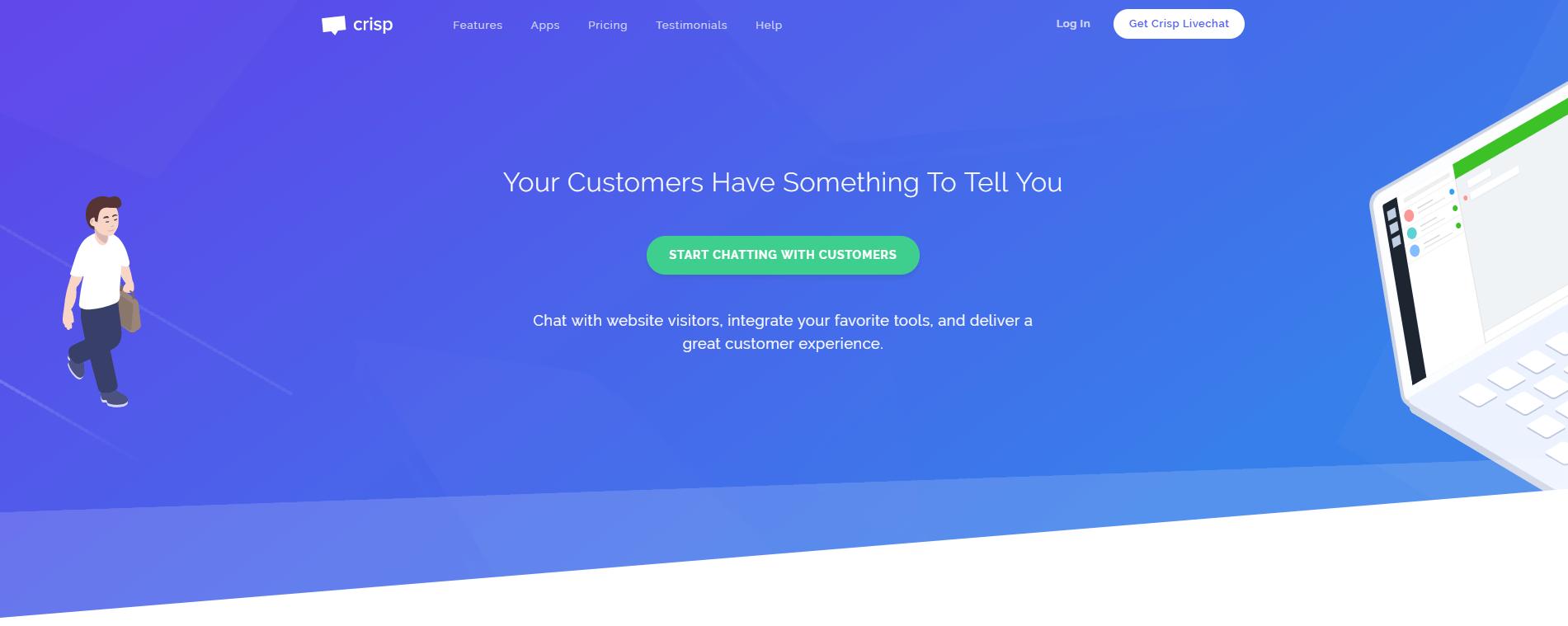 Обзор онлайн-чатов на сайт - Crisp