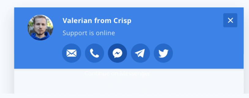 Crisp - многоканальное общение