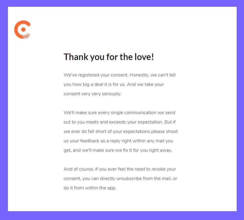 сообщение с благодарностью