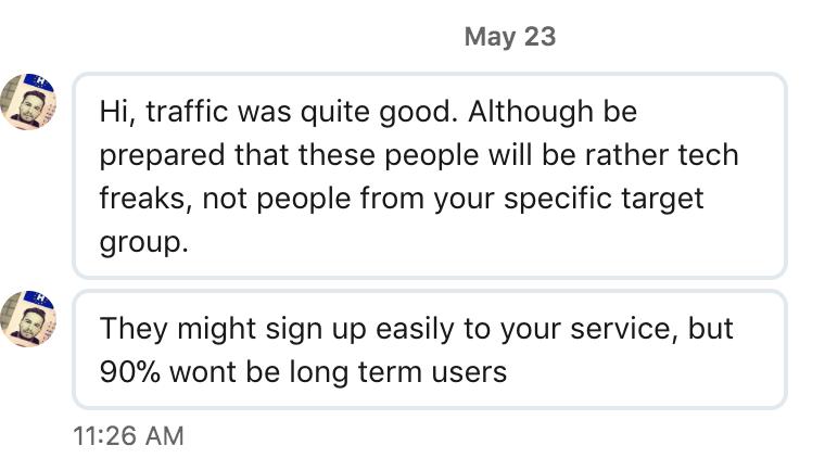 Betalist - конверсия трафика