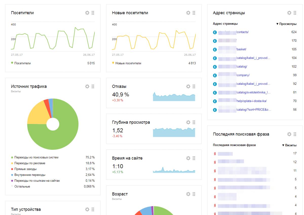 Статистика Яндекс.Метрика