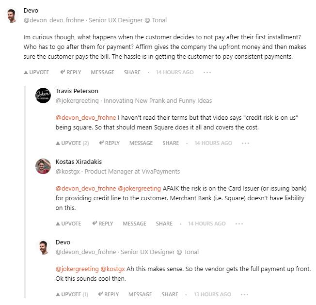 Обсуждение в комментариях на Product Hunt