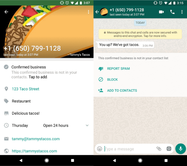 проверенный аккаунт Whatsapp