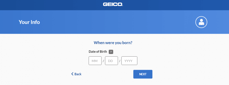 date format in Geico