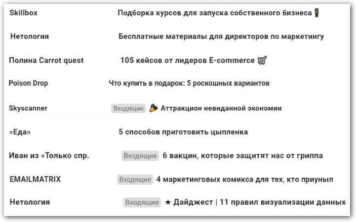 email theme with selection