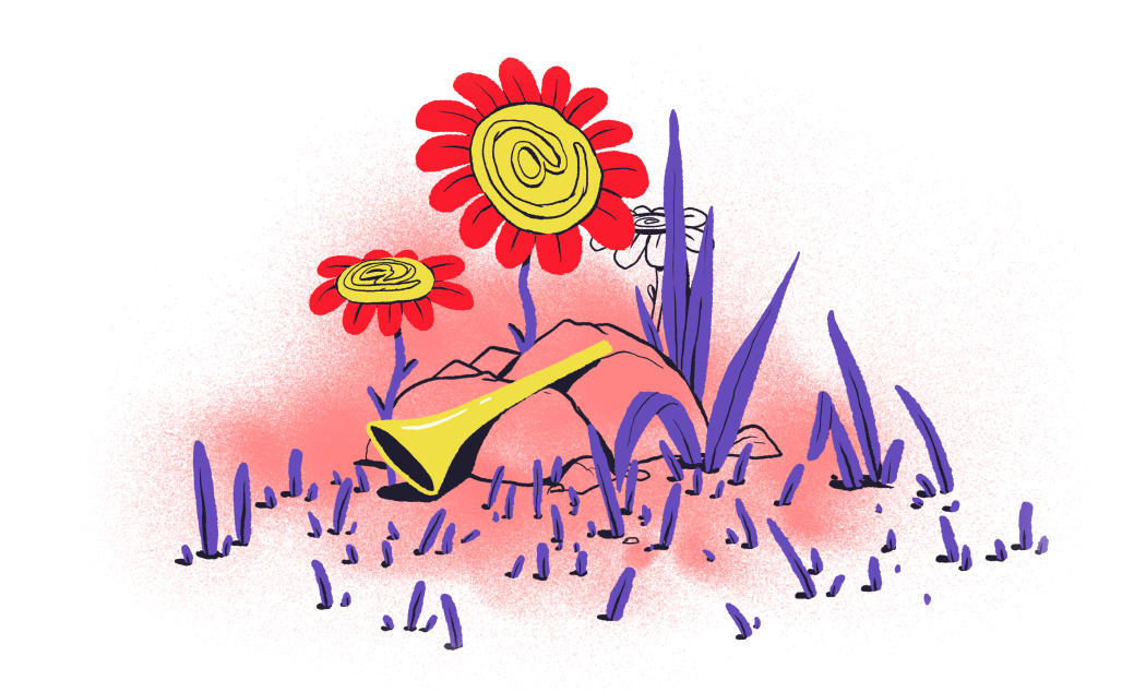 собачка почта цветы
