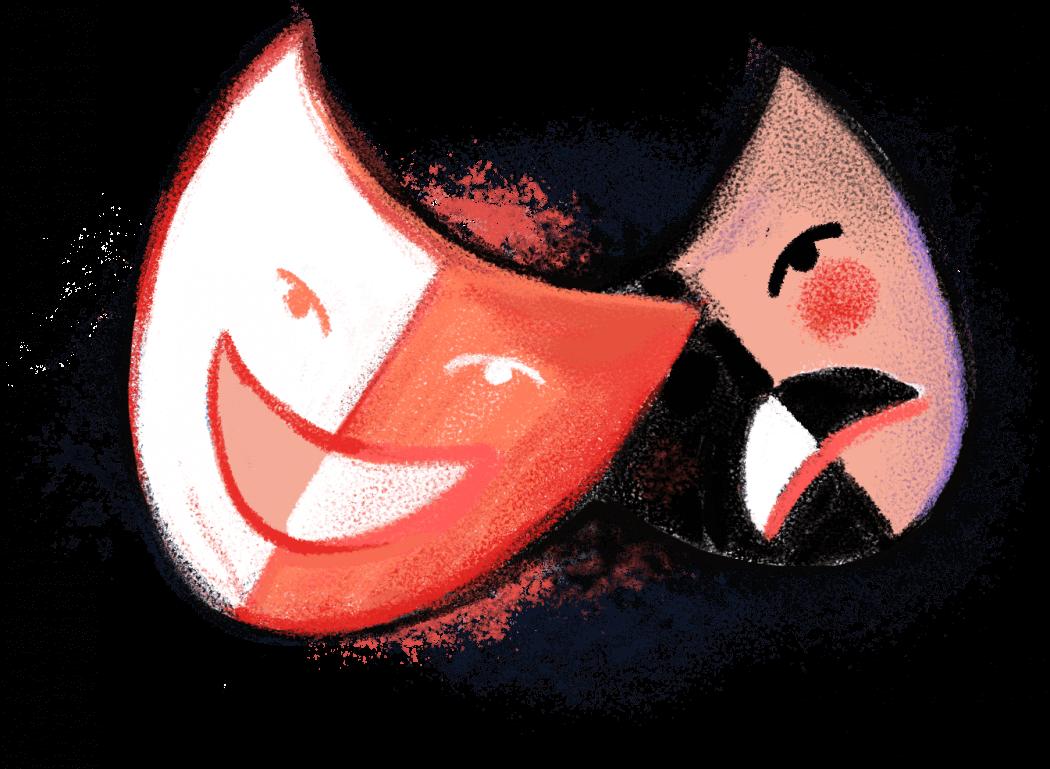 Изображение двух театральных масок