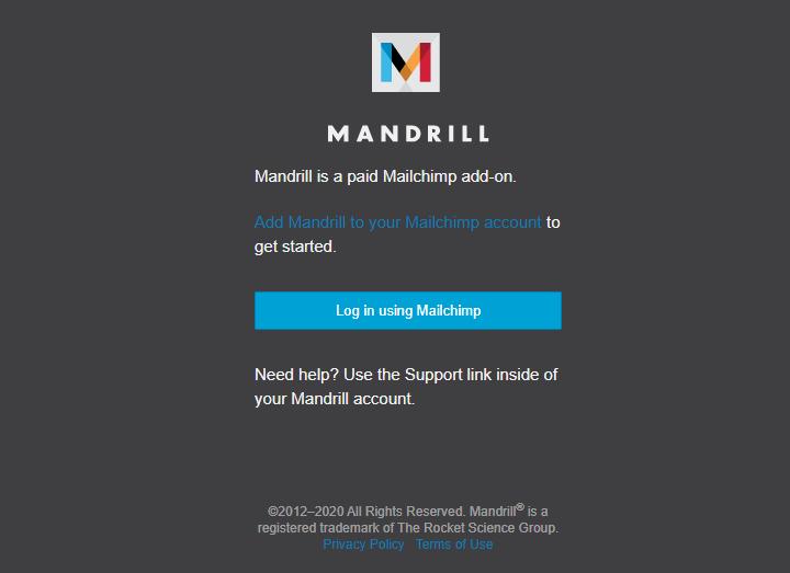 Mandrill от MailChimp