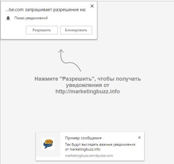 Процесс подписки на push-уведомления