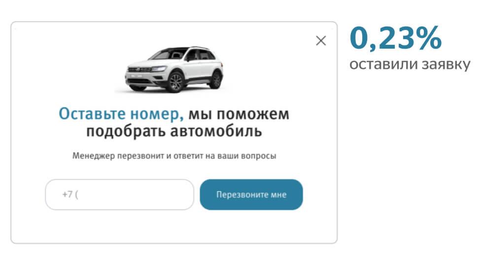 0,23% оставили заявку на подбор автомобиля