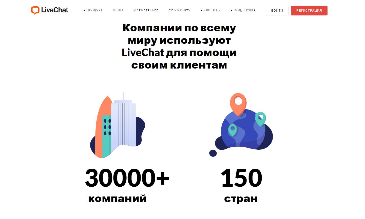 LiveChat главная страница