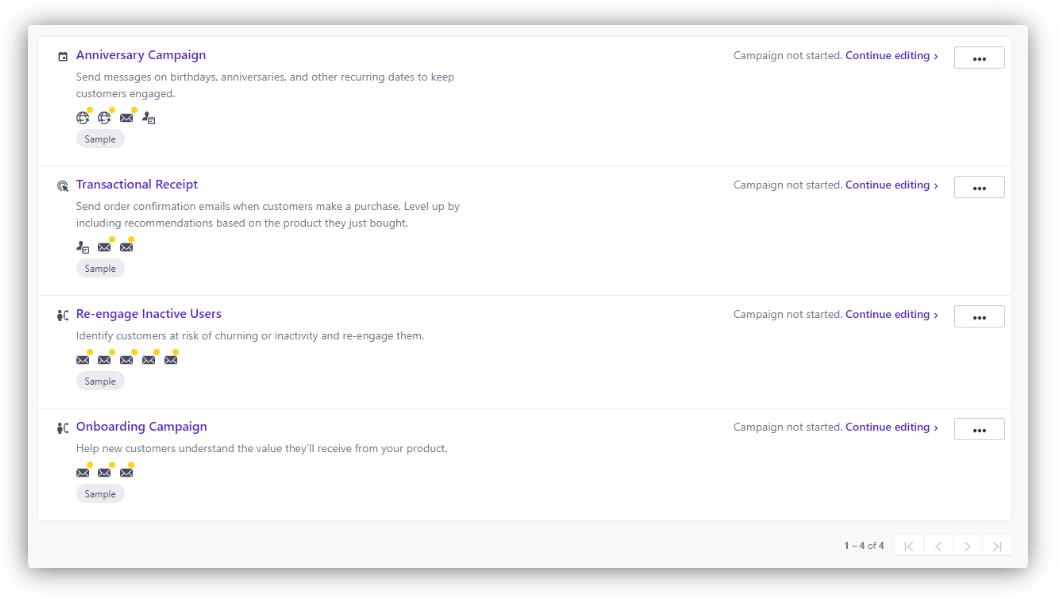 сценарии в customer.io