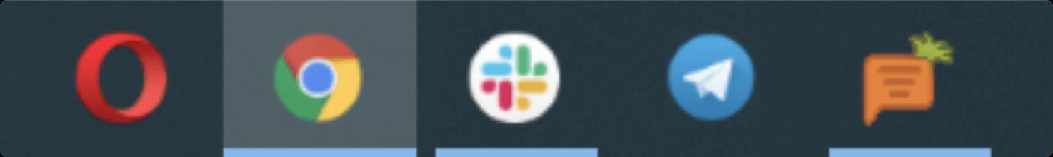 Иконка с приложением на панели задач