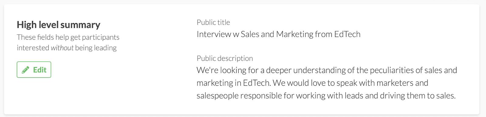 характеристика Dashly на сайте User Interviews