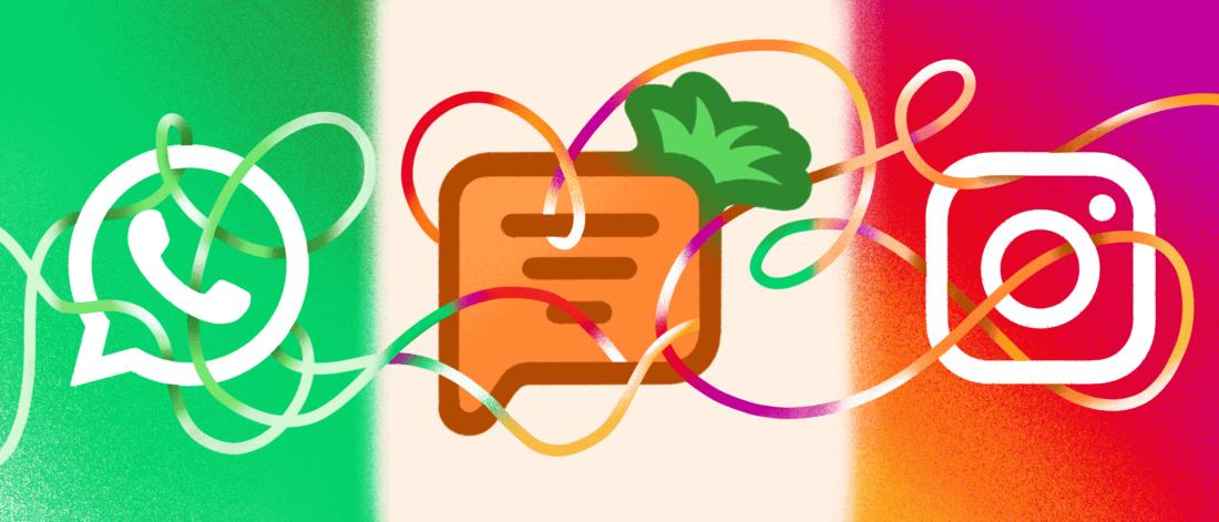 Объедините Carrotquest сWhatsApp иInstagram иулучшайте качество поддержки вмессенджерах?