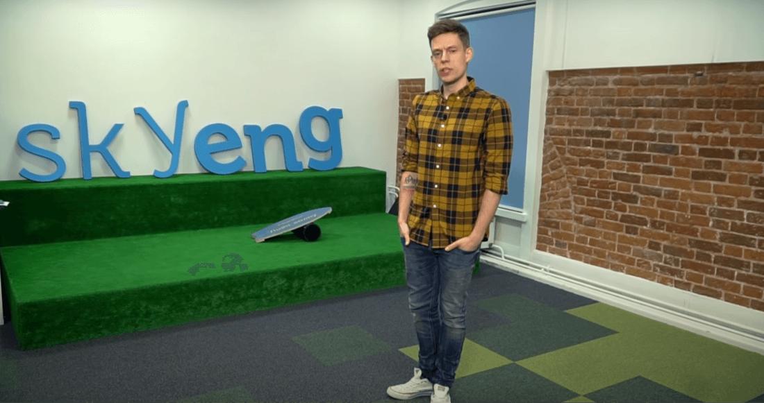 Юрий Дудь рекламирует школу английского языка Skyeng